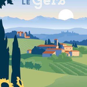 """Affiche """"Le Gers"""", format 50x70cm"""
