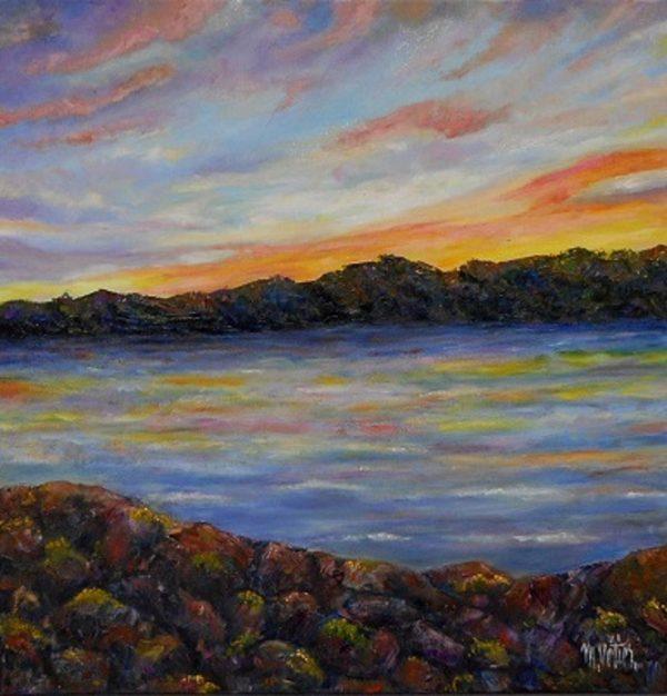 coucher de soleil sur la Maurice Vétier